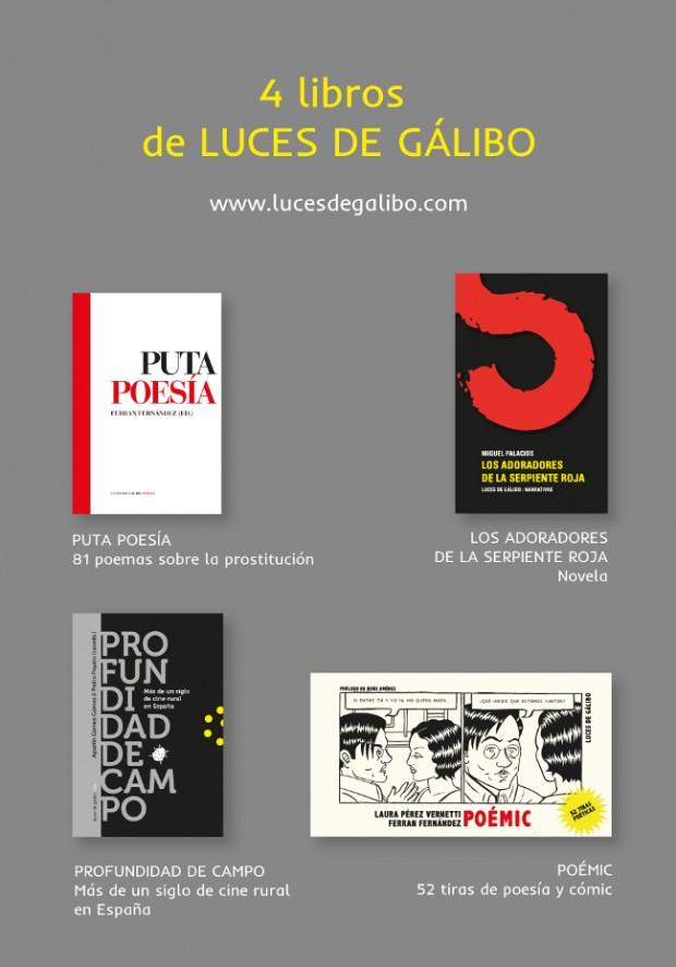 4 libros de Luces de Gaělibo